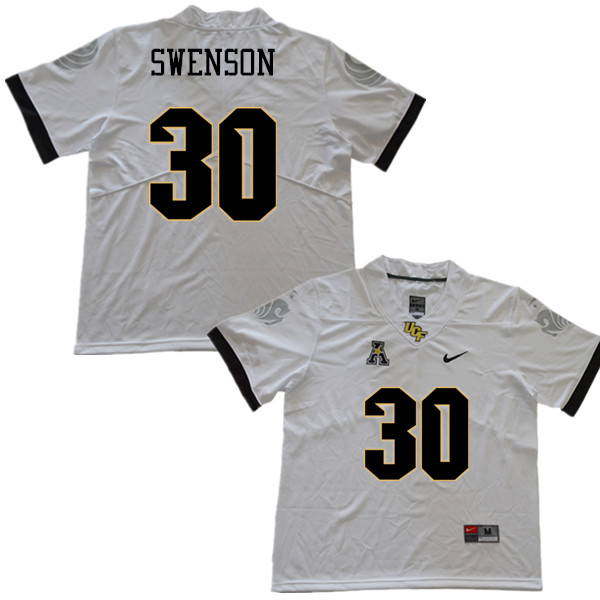 Men #30 Alex Swenson UCF Knights College Football Jerseys Sale-White