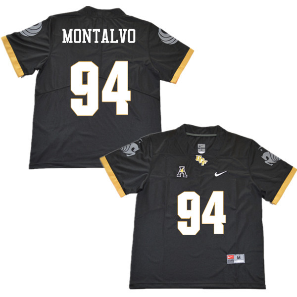 Men #94 Anthony Montalvo UCF Knights College Football Jerseys Sale-Black