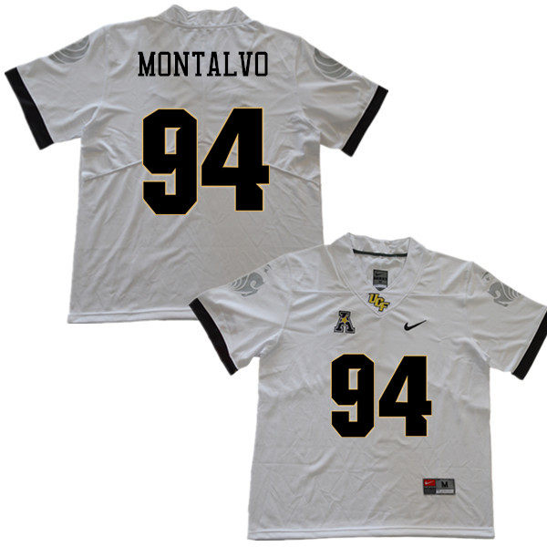 Men #94 Anthony Montalvo UCF Knights College Football Jerseys Sale-White