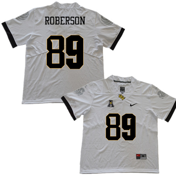 Men #89 Anthony Roberson UCF Knights College Football Jerseys Sale-White