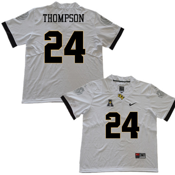 Men #24 Bentavious Thompson UCF Knights College Football Jerseys Sale-White