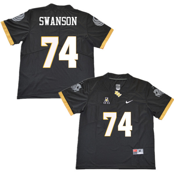 Men #74 Boman Swanson UCF Knights College Football Jerseys Sale-Black
