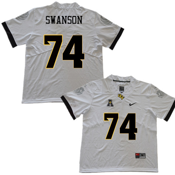 Men #74 Boman Swanson UCF Knights College Football Jerseys Sale-White