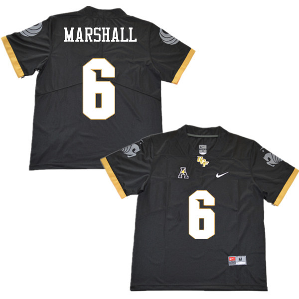 Men #6 Brandon Marshall UCF Knights College Football Jerseys Sale-Black