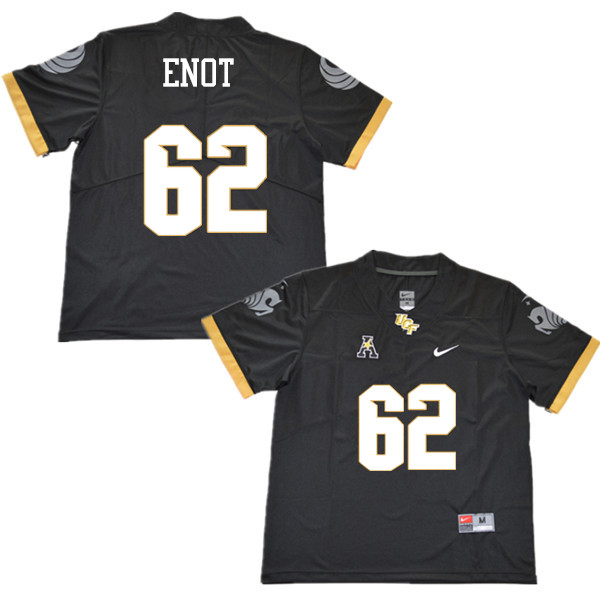 Men #62 Caleb Enot UCF Knights College Football Jerseys Sale-Black