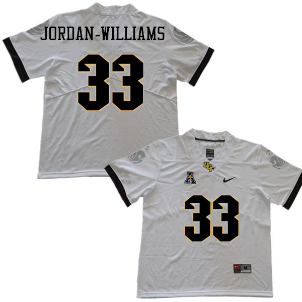 Men #33 Cedric Jordan-Williams UCF Knights College Football Jerseys Sale-White