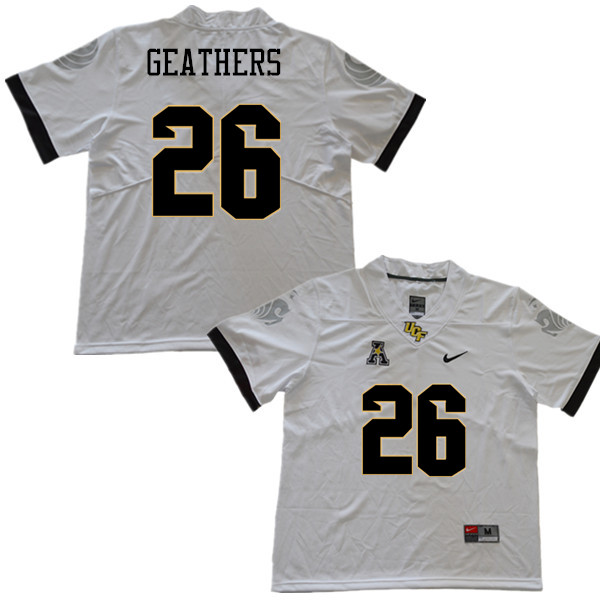 Men #26 Clayton Geathers UCF Knights College Football Jerseys Sale-White