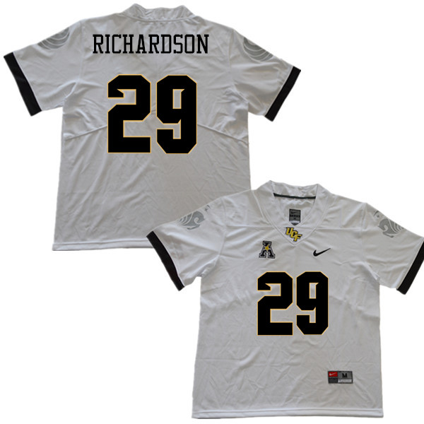 Men #29 Cordarrian Richardson UCF Knights College Football Jerseys Sale-White