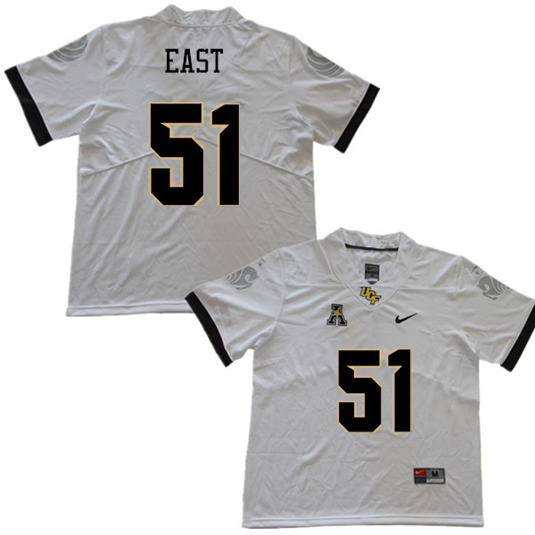 Men #51 Darious East UCF Knights College Football Jerseys Sale-White