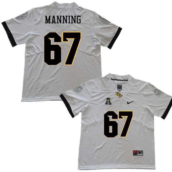 Men #67 Dillon Manning UCF Knights College Football Jerseys Sale-White