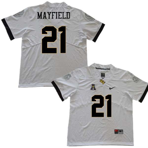 Men #21 Dontay Mayfield UCF Knights College Football Jerseys Sale-White