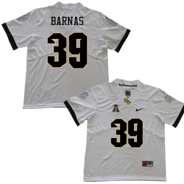 Men #39 Dylan Barnas UCF Knights College Football Jerseys Sale-White