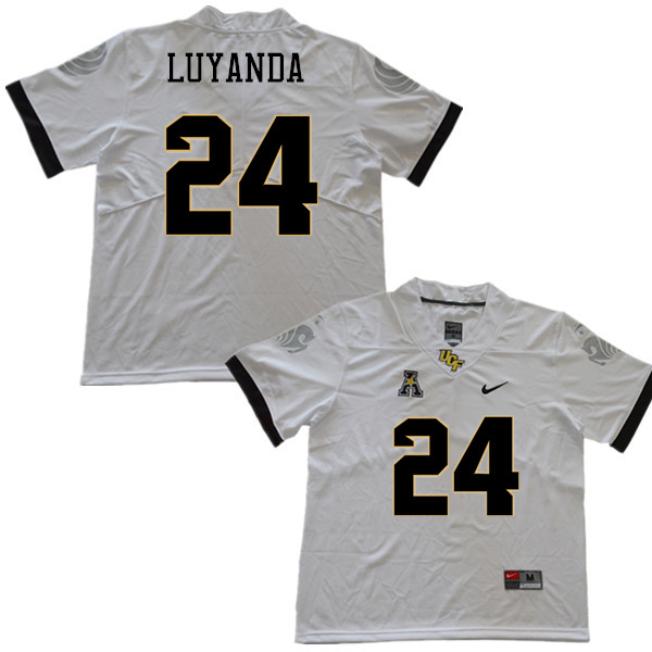 Men #24 Gabriel Luyanda UCF Knights College Football Jerseys Sale-White