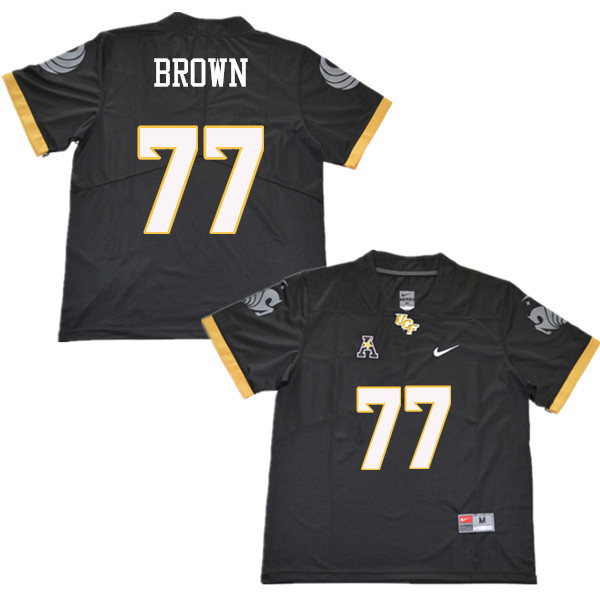 Men #77 Jake Brown UCF Knights College Football Jerseys Sale-Black