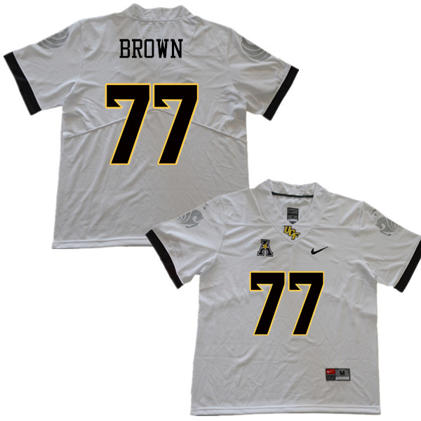 Men #77 Jake Brown UCF Knights College Football Jerseys Sale-White