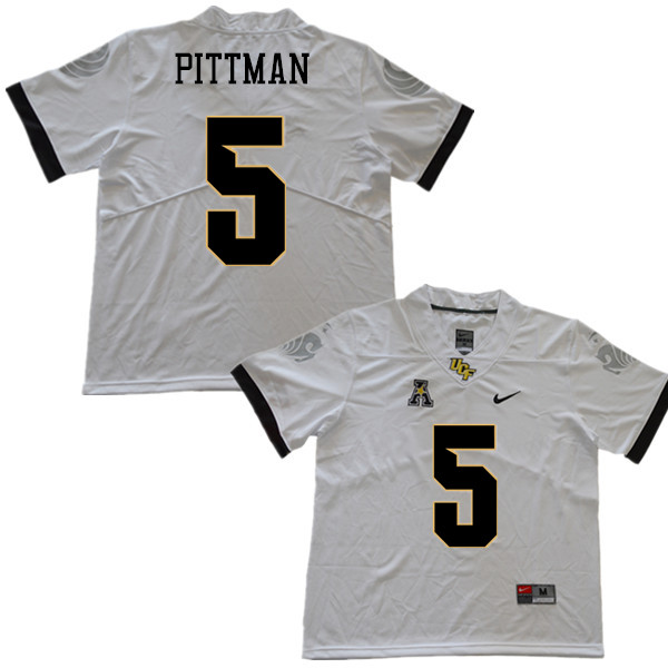 Men #5 Jamiyus Pittman UCF Knights College Football Jerseys Sale-White