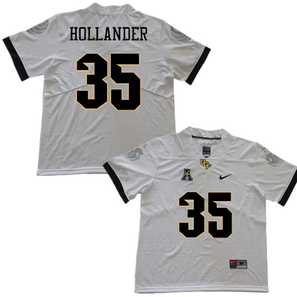 Men #35 Jared Hollander UCF Knights College Football Jerseys Sale-White