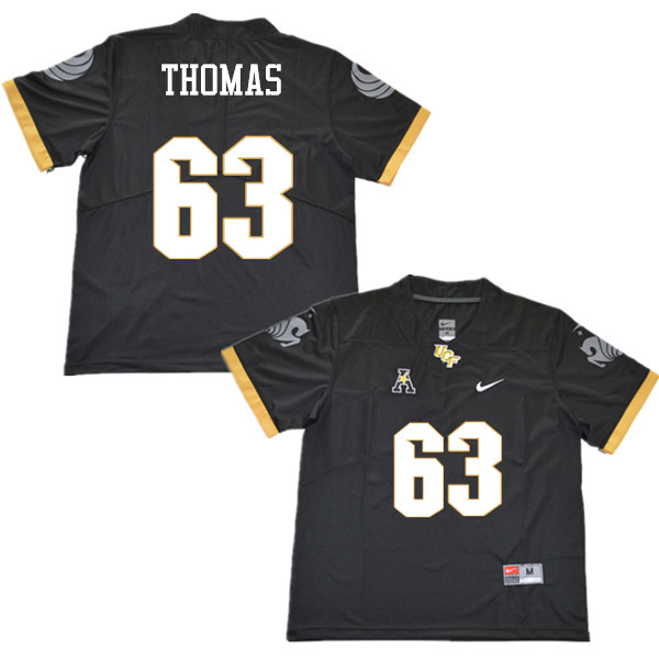 Men #63 Jared Thomas UCF Knights College Football Jerseys Sale-Black