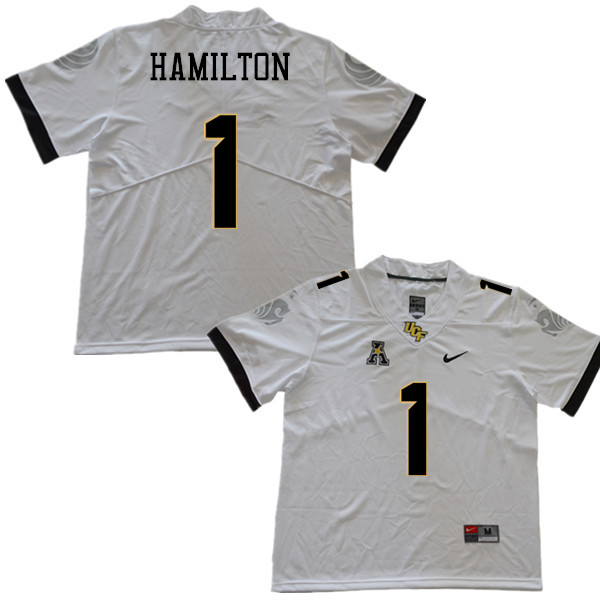 Men #1 Jawon Hamilton UCF Knights College Football Jerseys Sale-White