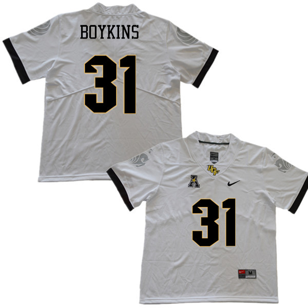 Men #31 Jeremy Boykins UCF Knights College Football Jerseys Sale-White