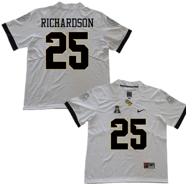 Men #25 Johnny Richardson UCF Knights College Football Jerseys Sale-White