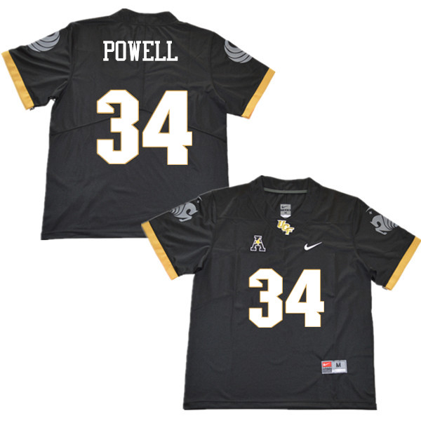 Men #34 Jon Powell UCF Knights College Football Jerseys Sale-Black