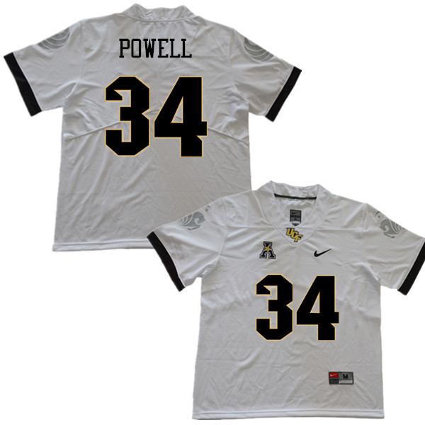 Men #34 Jon Powell UCF Knights College Football Jerseys Sale-White