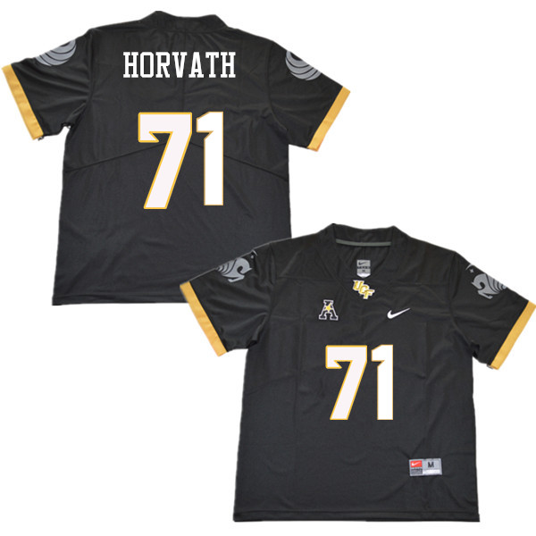 Men #71 Jonathan Horvath UCF Knights College Football Jerseys Sale-Black