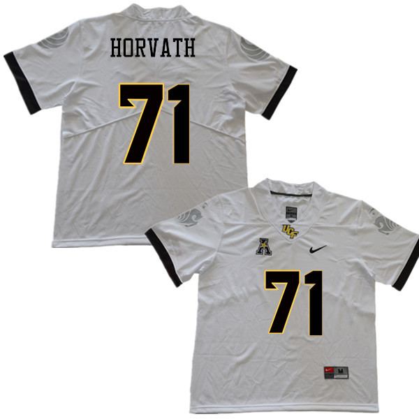 Men #71 Jonathan Horvath UCF Knights College Football Jerseys Sale-White