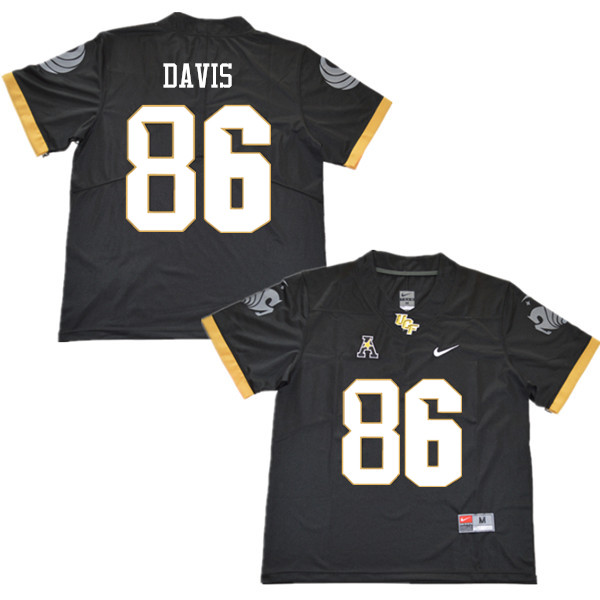 Men #86 Jordan Davis UCF Knights College Football Jerseys Sale-Black