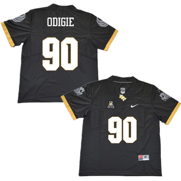 Men #90 Josh Odigie UCF Knights College Football Jerseys Sale-Black