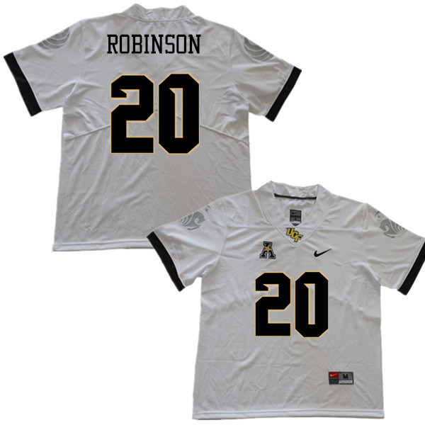 Men #20 Josh Robinson UCF Knights College Football Jerseys Sale-White