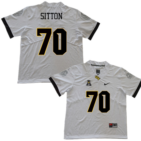 Men #70 Josh Sitton UCF Knights College Football Jerseys Sale-White