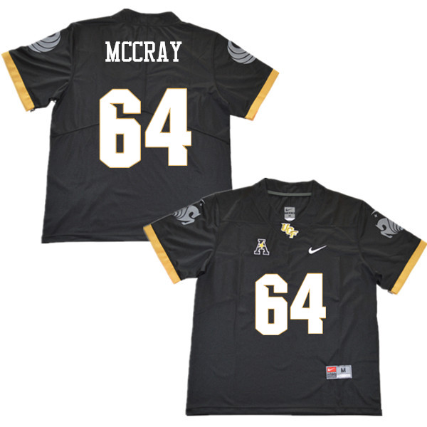 Men #64 Justin McCray UCF Knights College Football Jerseys Sale-Black
