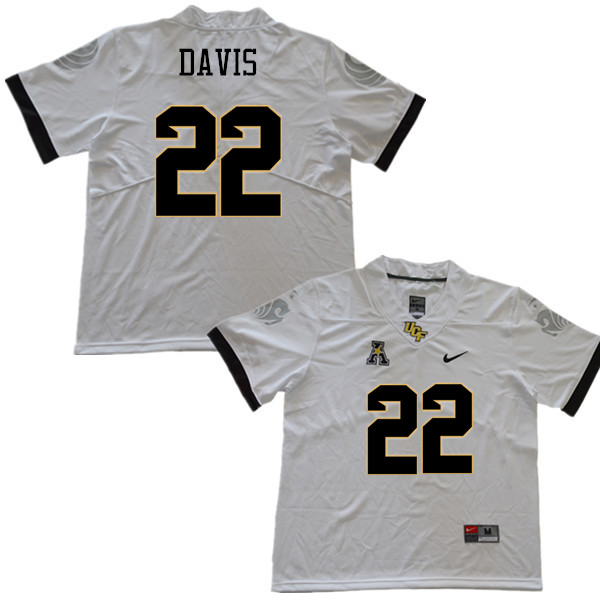 Men #22 Kalia Davis UCF Knights College Football Jerseys Sale-White