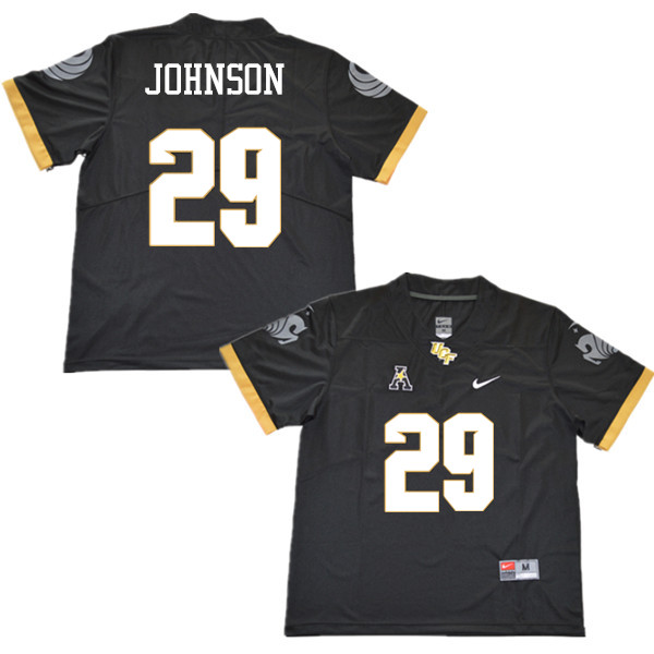 Men #29 Keenan Johnson UCF Knights College Football Jerseys Sale-Black