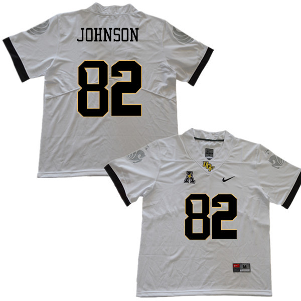 Men #82 Kenyon Johnson UCF Knights College Football Jerseys Sale-White