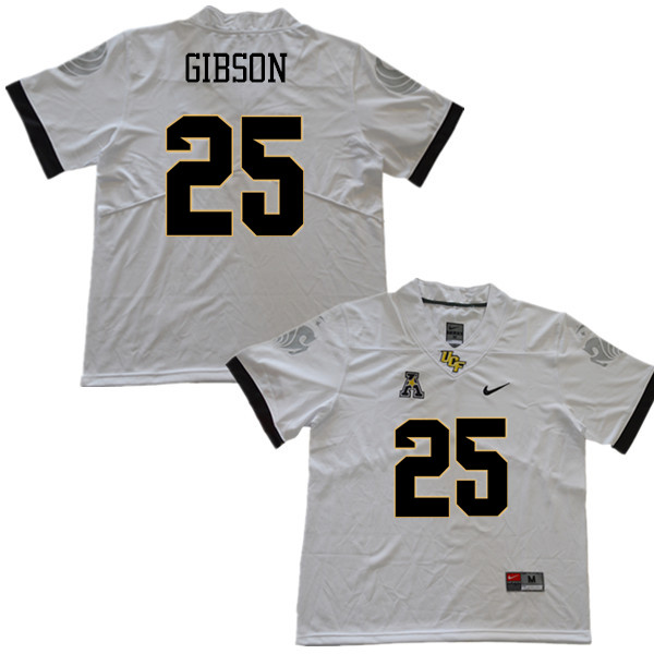 Men #25 Kyle Gibson UCF Knights College Football Jerseys Sale-White
