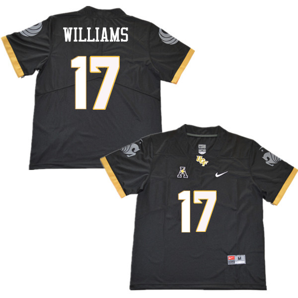 Men #17 Marlon Williams UCF Knights College Football Jerseys Sale-Black