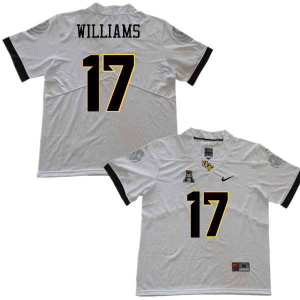 Men #17 Marlon Williams UCF Knights College Football Jerseys Sale-White