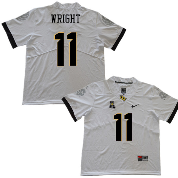 Men #11 Matthew Wright UCF Knights College Football Jerseys Sale-White