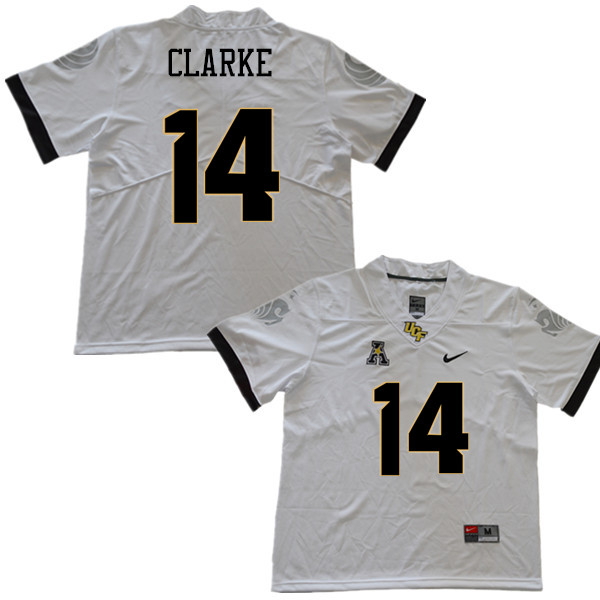 Men #14 Nevelle Clarke UCF Knights College Football Jerseys Sale-White