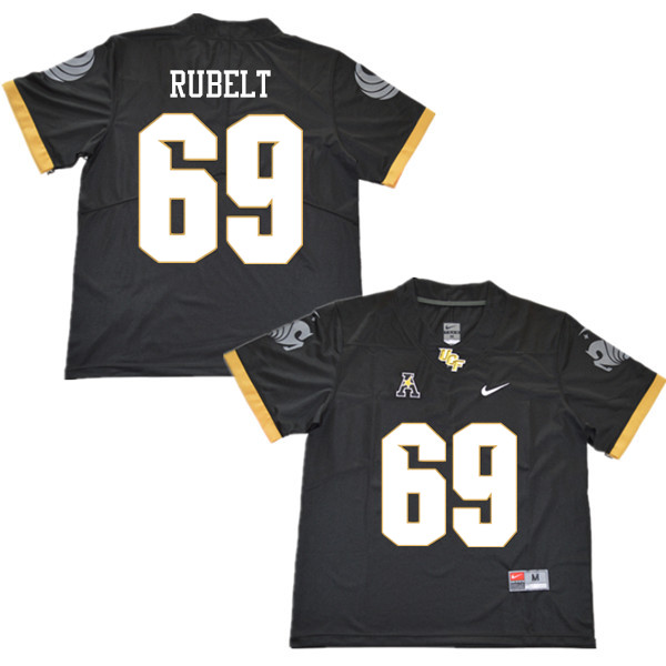 Men #69 Paul Rubelt UCF Knights College Football Jerseys Sale-Black
