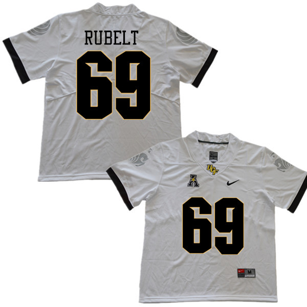 Men #69 Paul Rubelt UCF Knights College Football Jerseys Sale-White