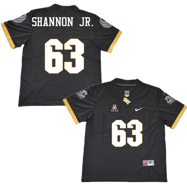 Men #63 Randy Shannon Jr. UCF Knights College Football Jerseys Sale-Black