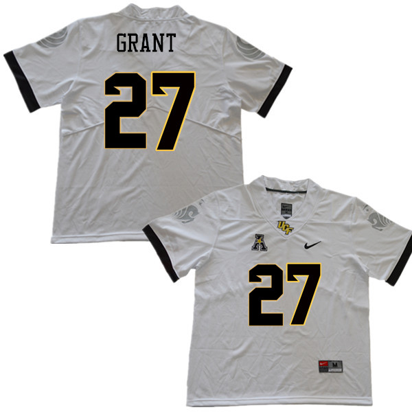 Men #27 Richie Grant UCF Knights College Football Jerseys Sale-White