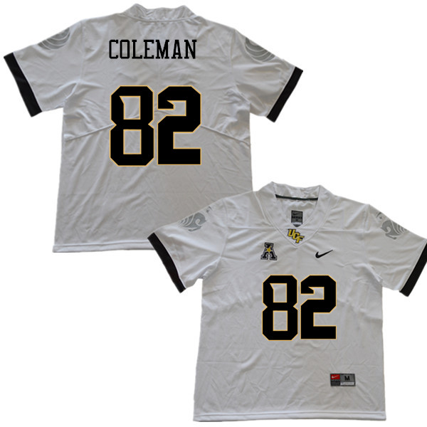 Men #82 Rory Coleman UCF Knights College Football Jerseys Sale-White