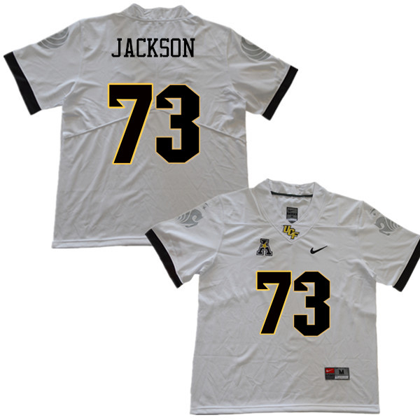 Men #73 Samuel Jackson UCF Knights College Football Jerseys Sale-White