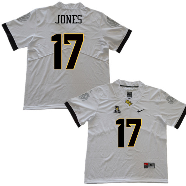 Men #17 Sterling Jones UCF Knights College Football Jerseys Sale-White