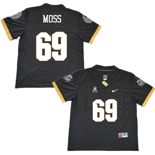Men #69 Steven Moss UCF Knights College Football Jerseys Sale-Black